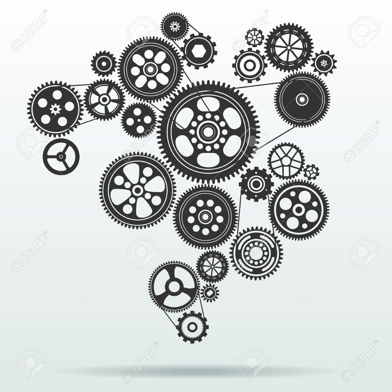 gearwheel mechanism background royalty free cliparts vectors and