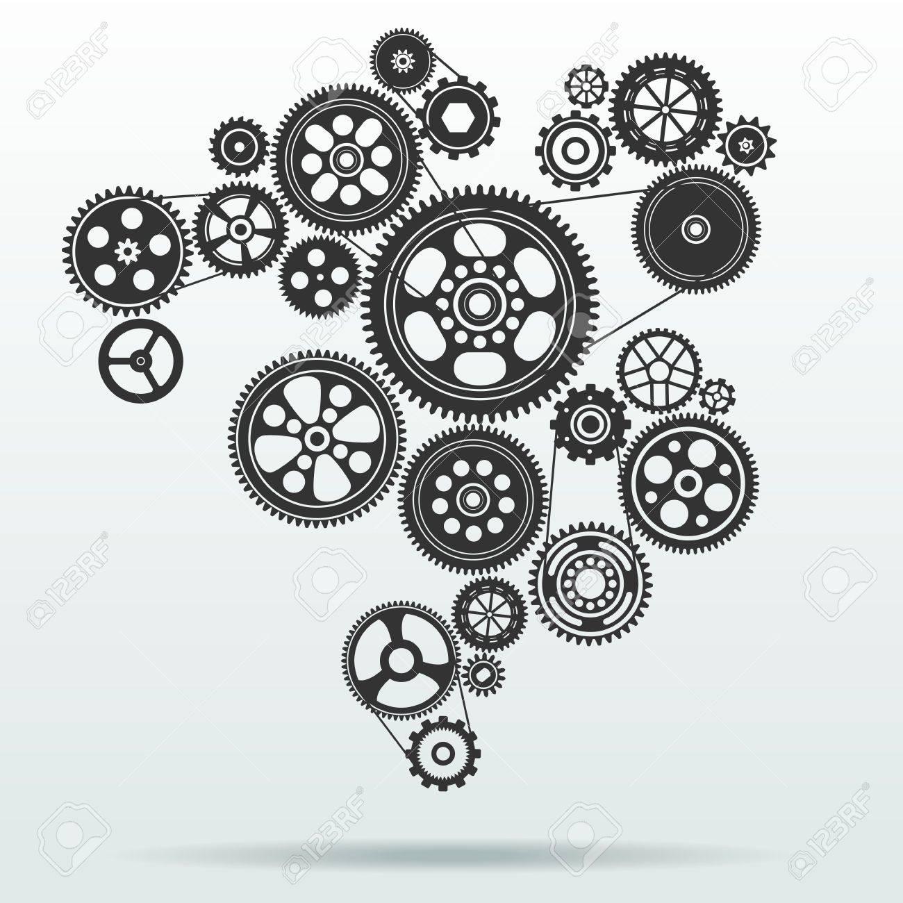 gearwheel mechanism background Stock Vector - 40351858