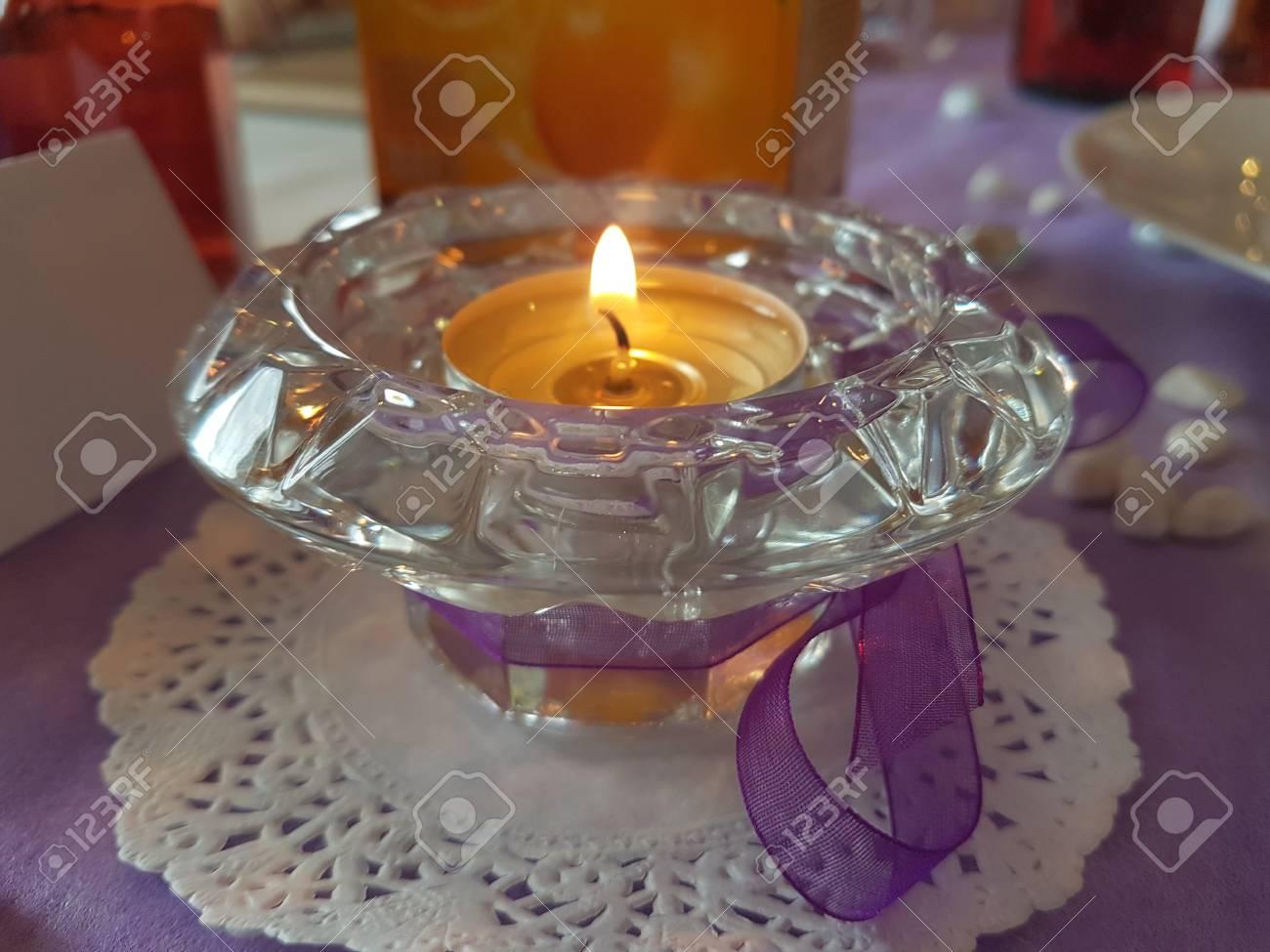 Bougie Parfumee Decorative Dans Un Recipient En Verre Banque D