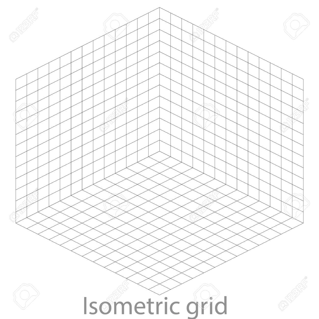 Template Isometric Grid Royalty Free Cliparts, Vectors, And Stock ...