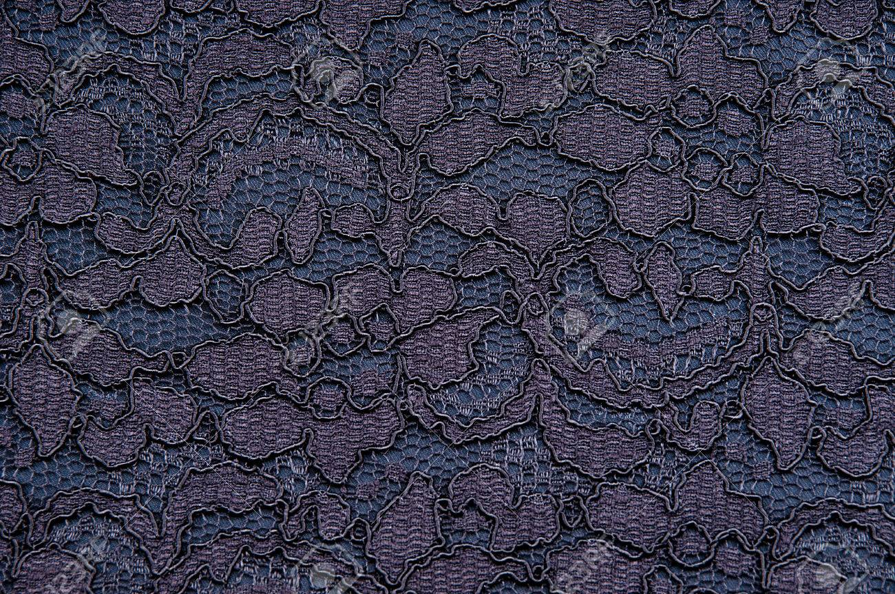 Black and blue damask silk fabric texture with a leaves and flowers decoration - 43271172