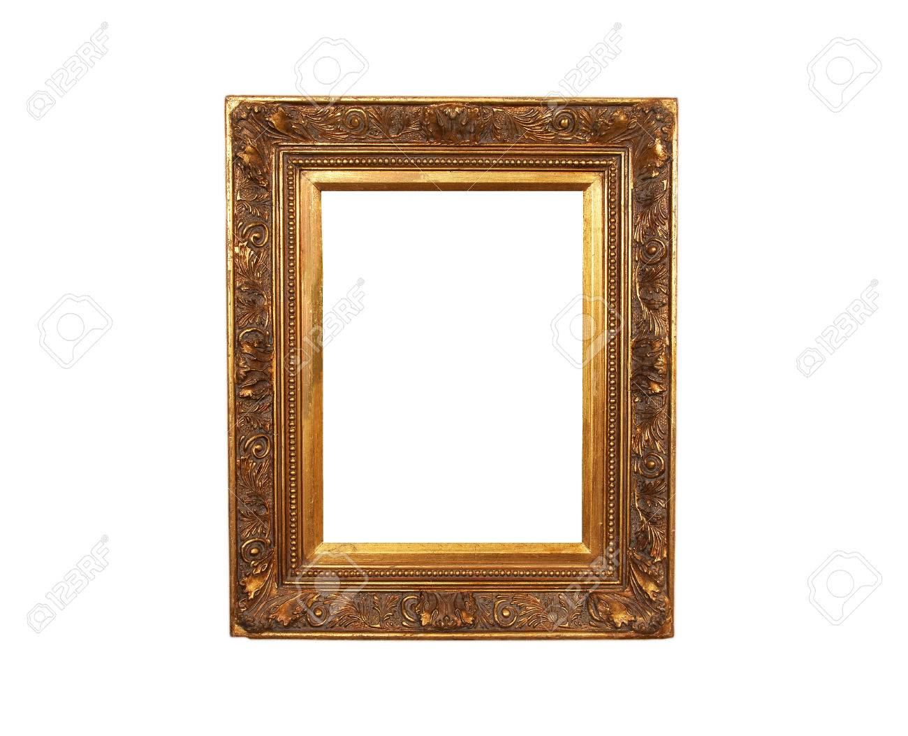 An old french wood frame with rich plaster engravings and gold painted. - 43271174