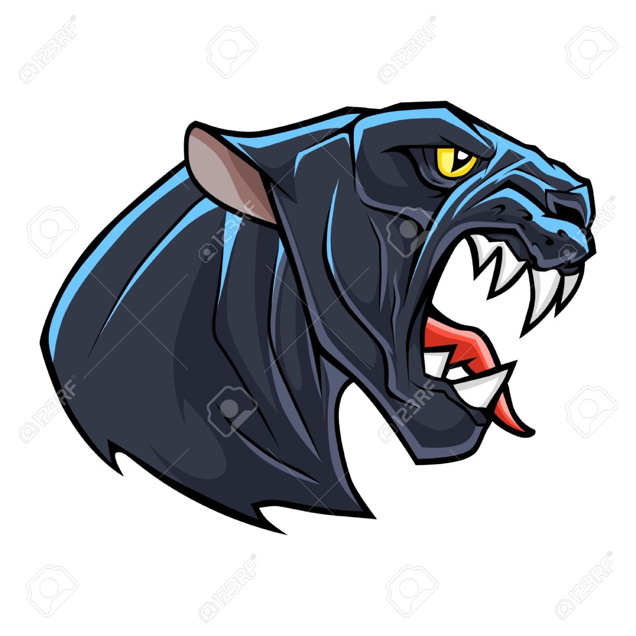 stylized angry panther head royalty free cliparts vectors and rh 123rf com