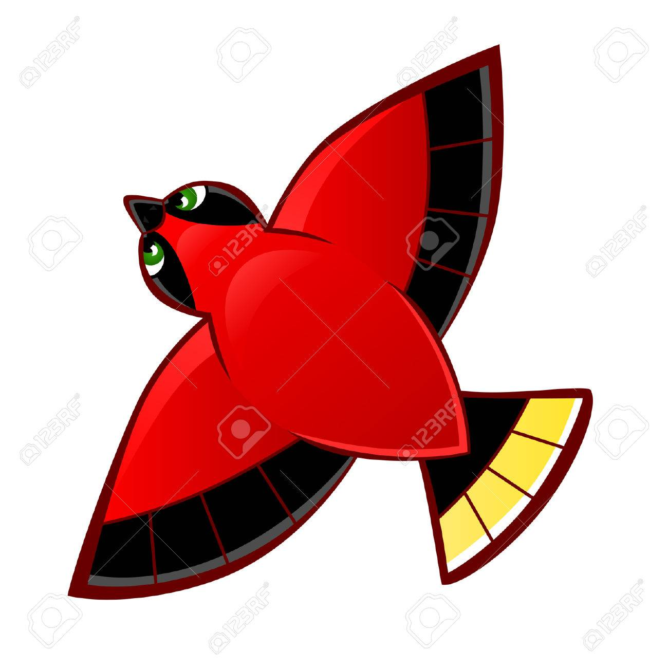 Flying Red Bird Royalty Free Cliparts Vectors And Stock