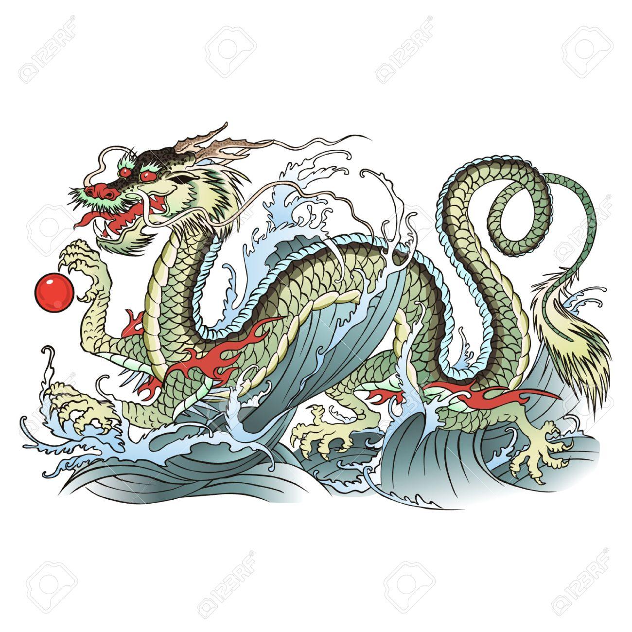 eastern water dragon - 39342011