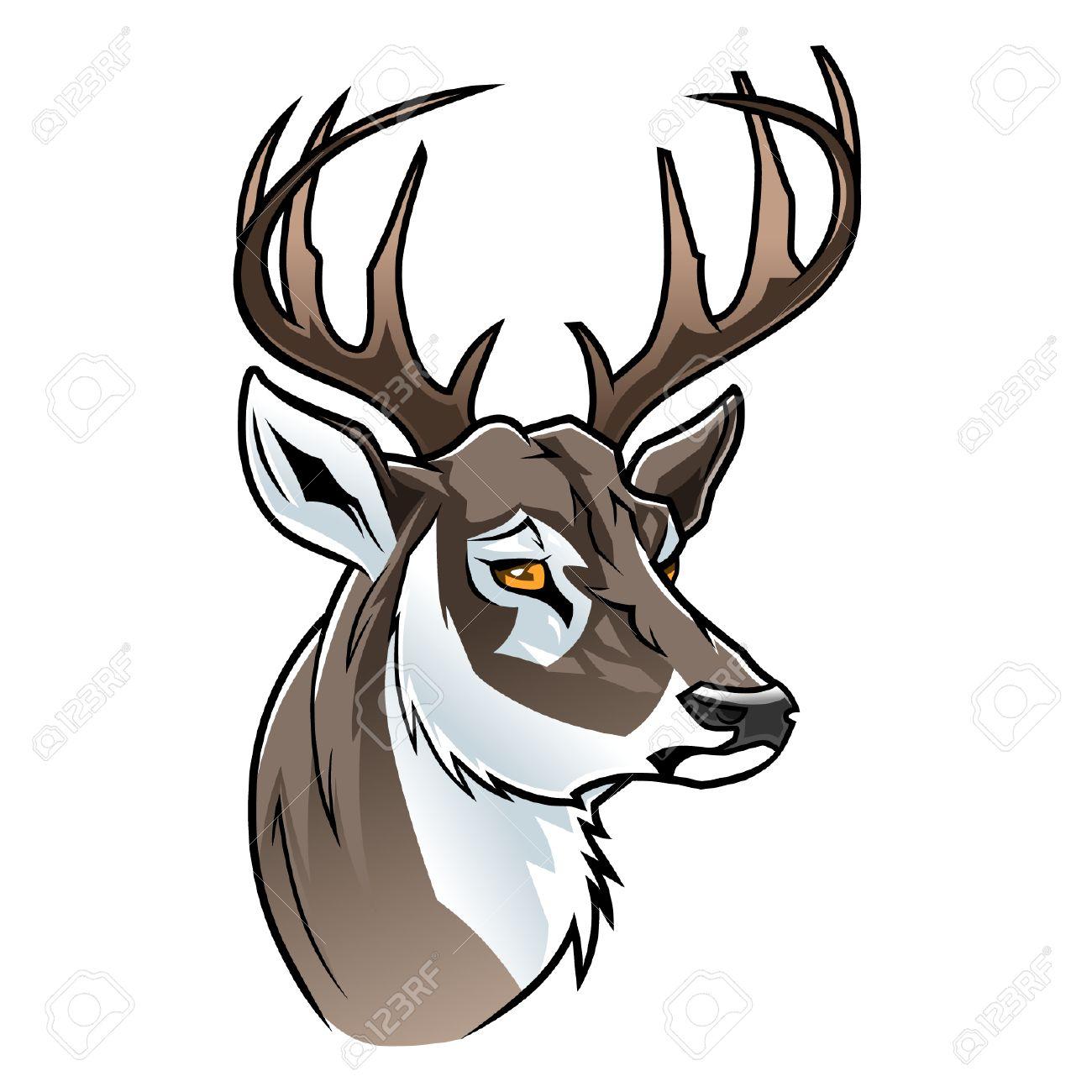cartoon deer head royalty free cliparts vectors and stock rh 123rf com cartoon deer head silhouette cartoon deer in headlights