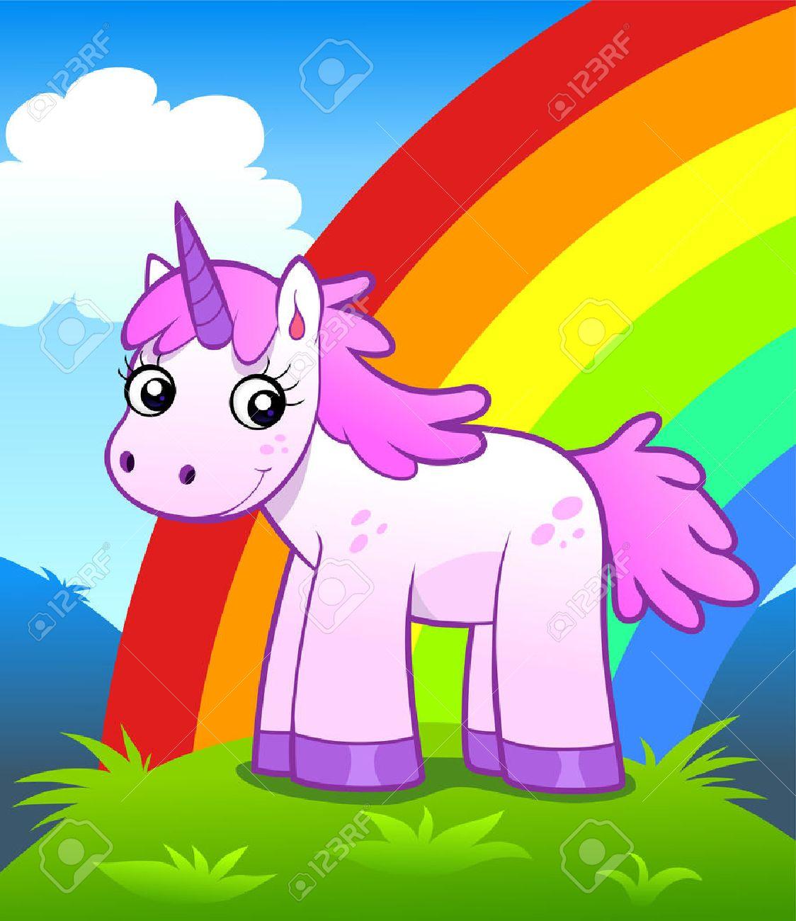 Unicorn in rainbow land - 41960894