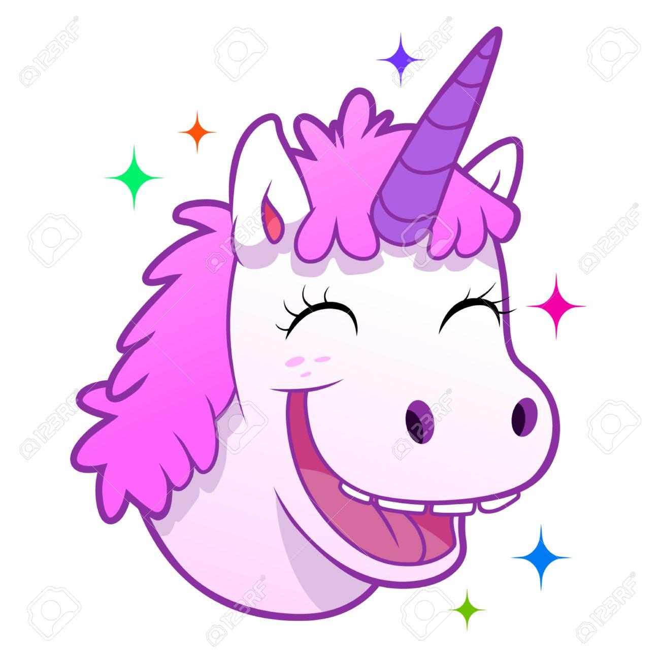Happy unicorn portrait - 44692020