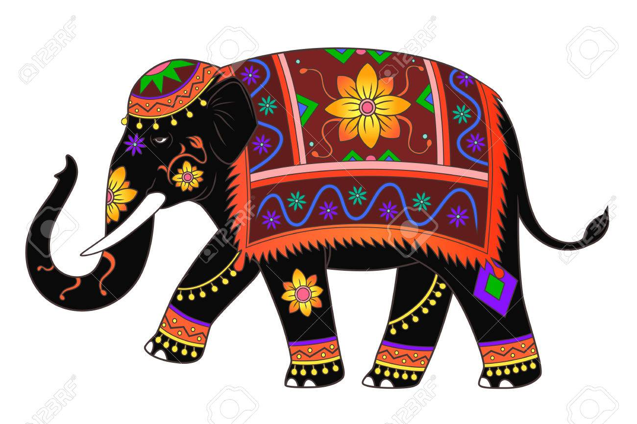 indian elephant color - Elephant Pictures To Color