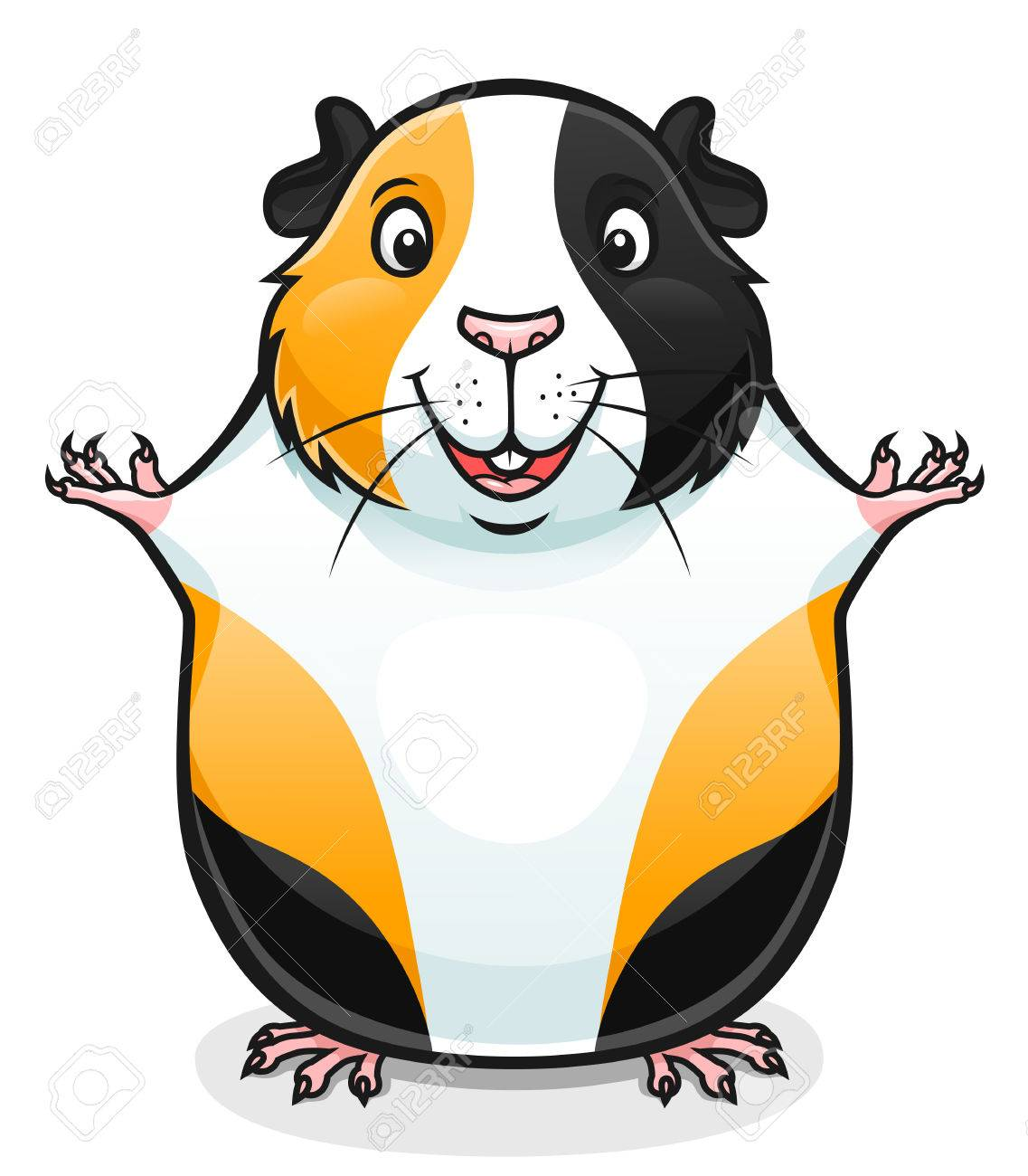 illustration of cute cartoon guinea pig royalty free cliparts rh 123rf com free clipart guinea pig guinea pig clip art images
