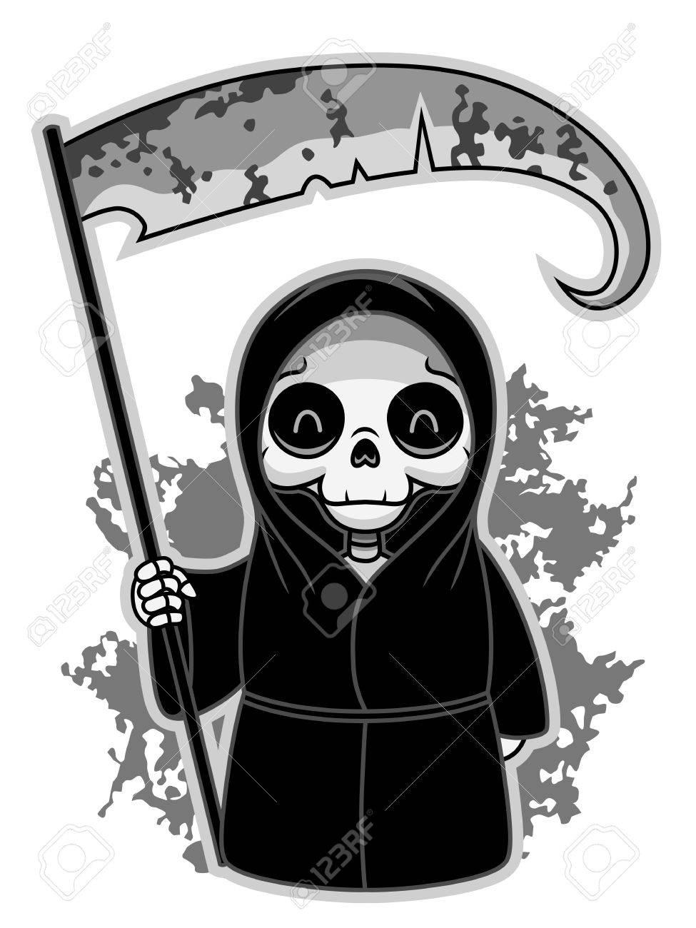 かわいい死神のイラスト素材ベクタ Image 60766389