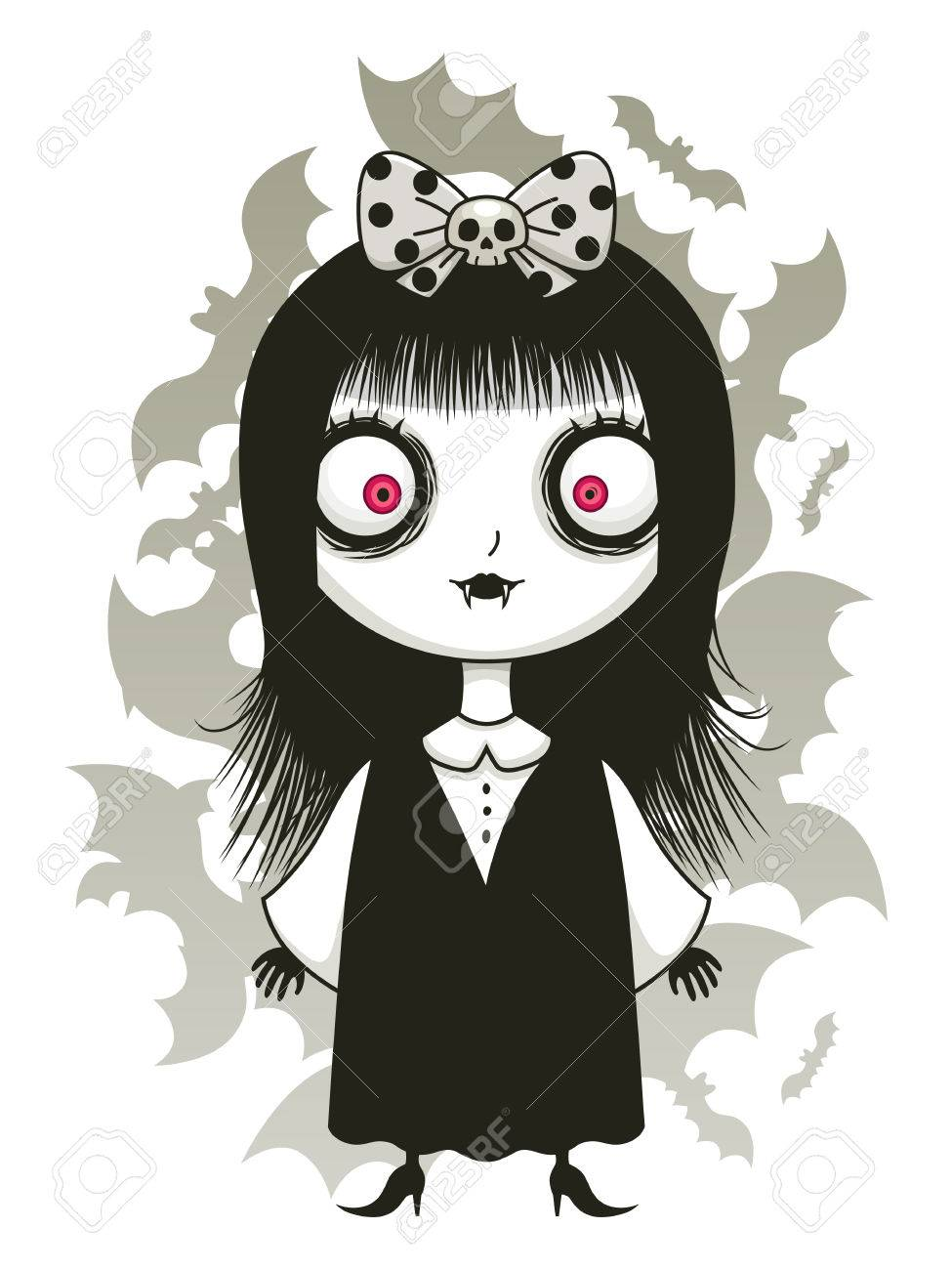 Cute Vampire Girl Royalty Free Cliparts Vectors And Stock Illustration Image 60766392
