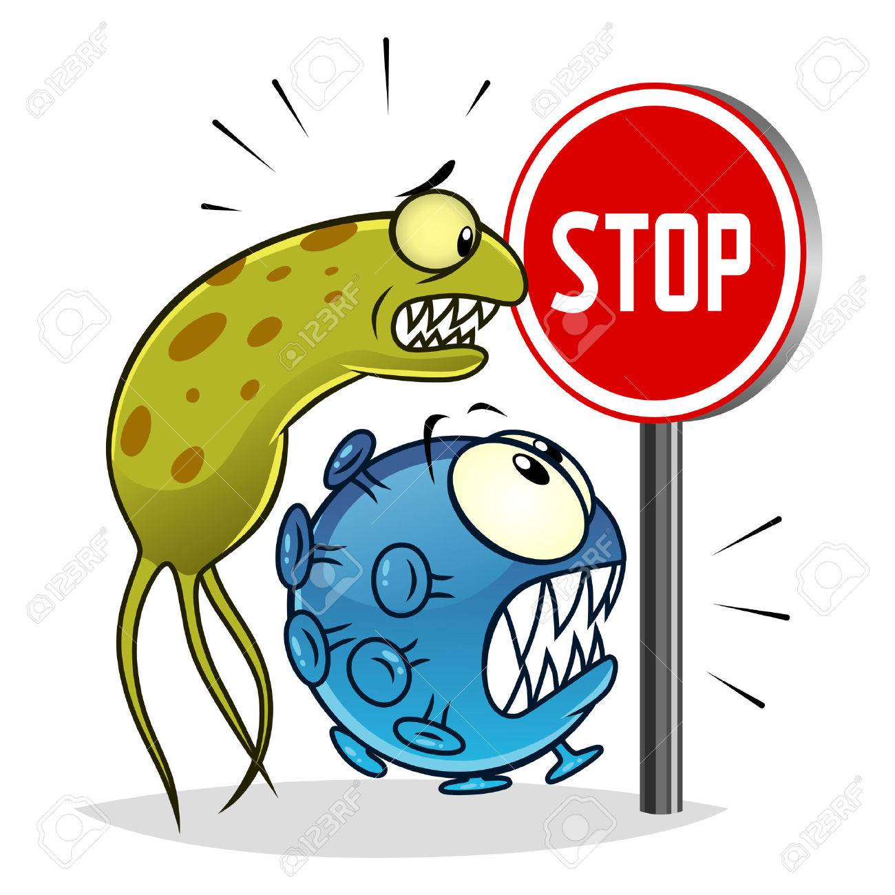 Stop viruses and bacteria - 64345758