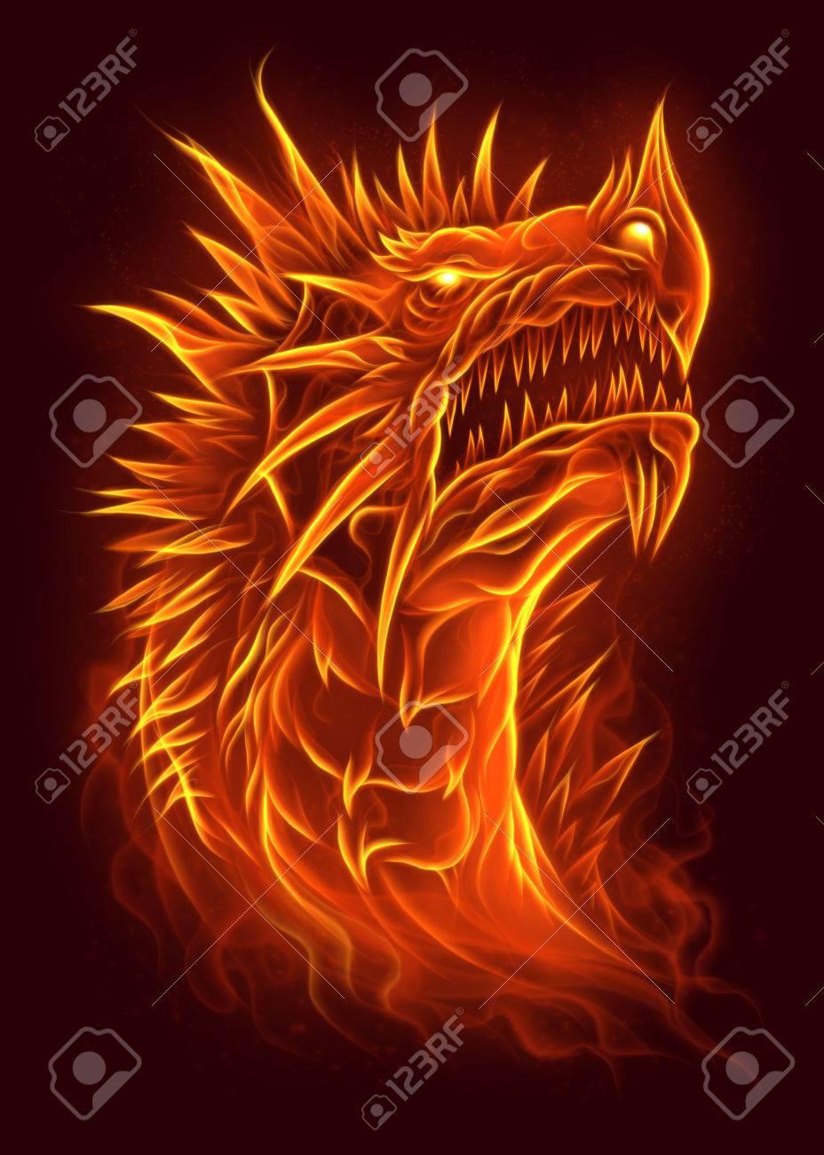 Fire dragon head - 67109477