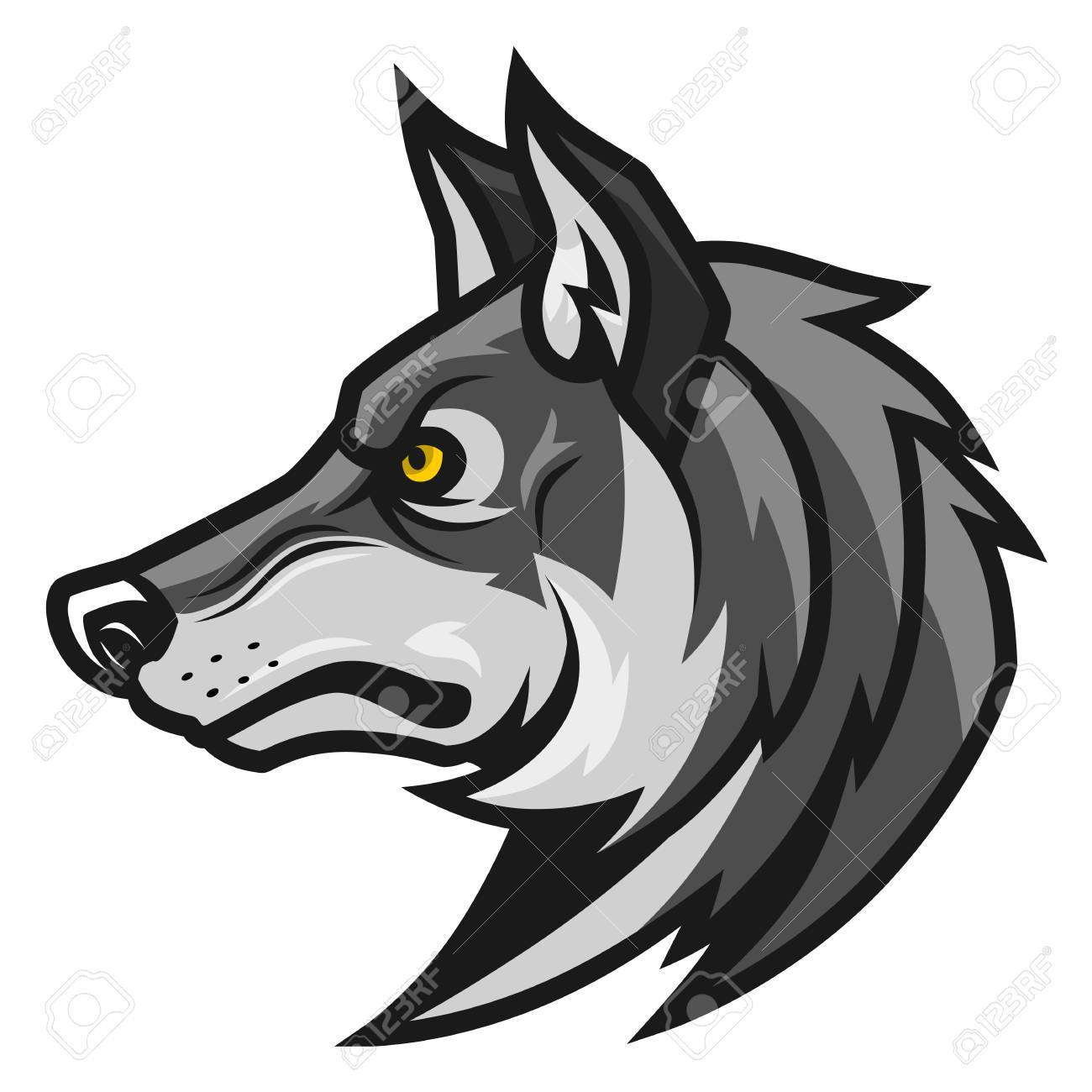 Wolf Head Profile Royalty Free Cliparts Vectors And Stock Illustration Image 76173900