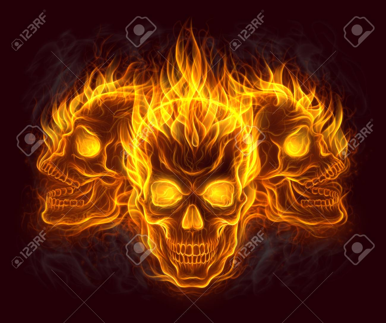 Three fire skulls stock photo picture and royalty free image three fire skulls stock photo 85707167 voltagebd Images