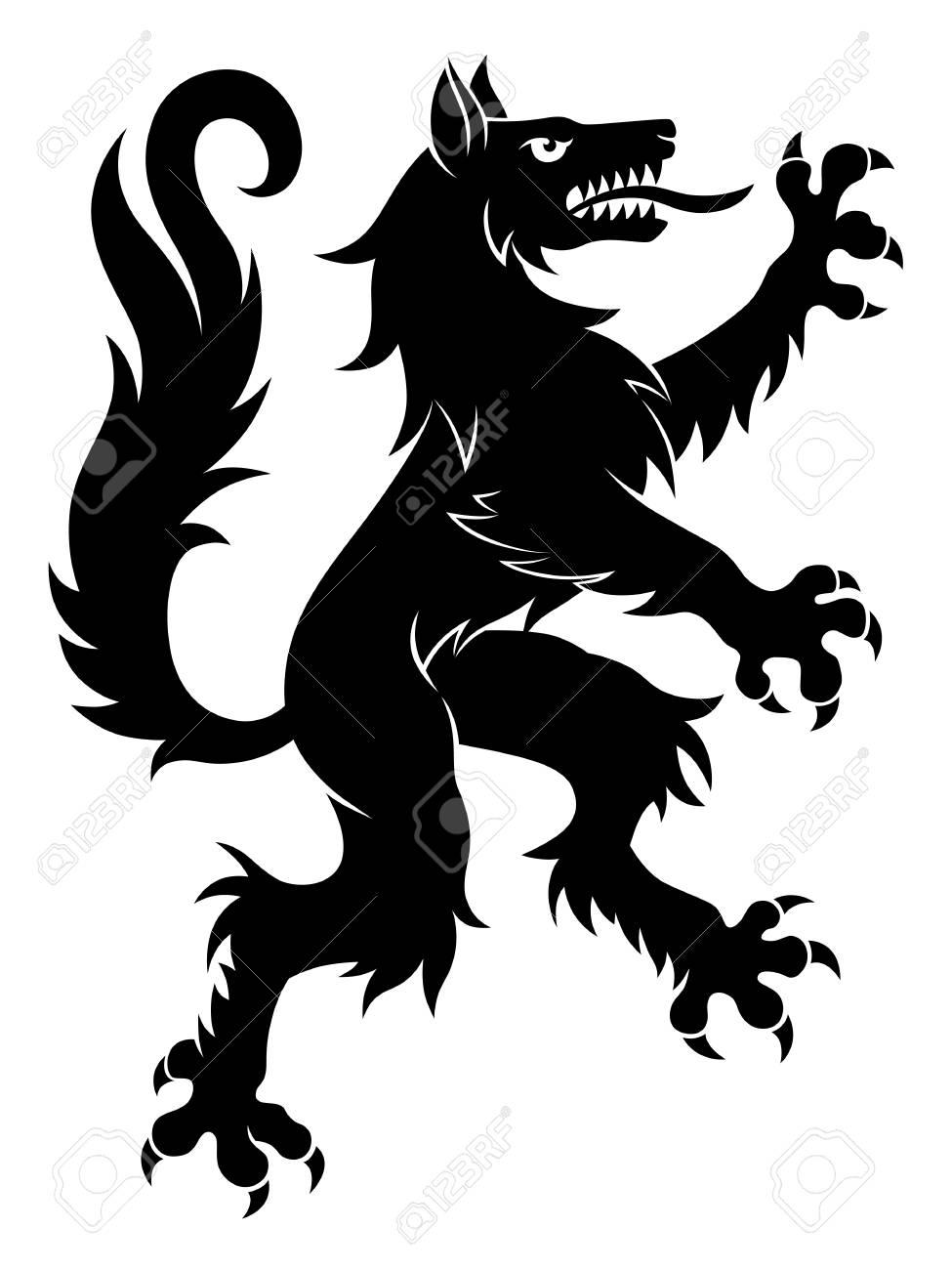 Heraldic wolf simple Vector illustration. - 87698581