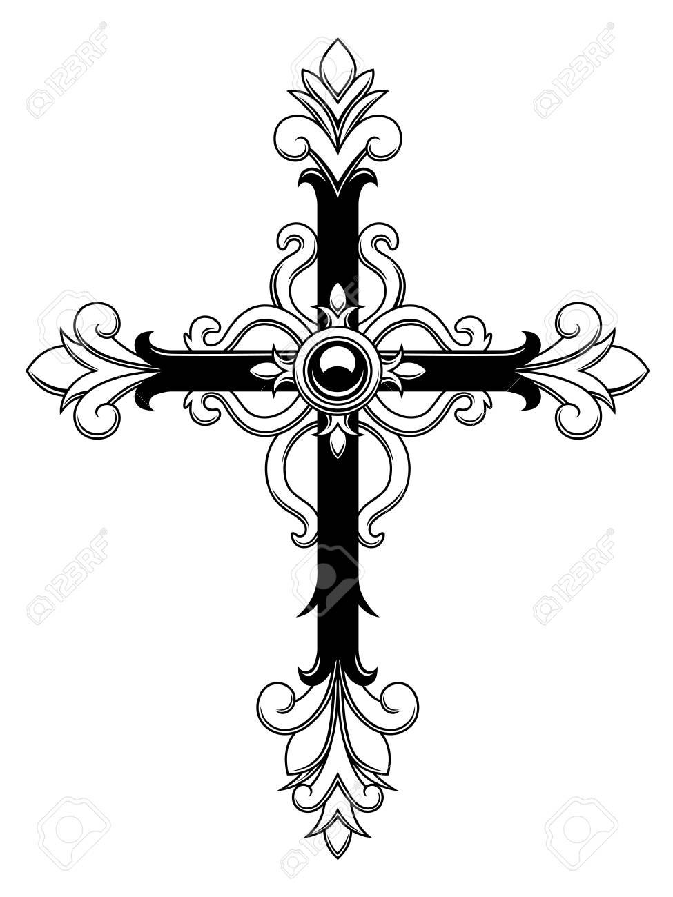 Ornamental Cross - 98544055