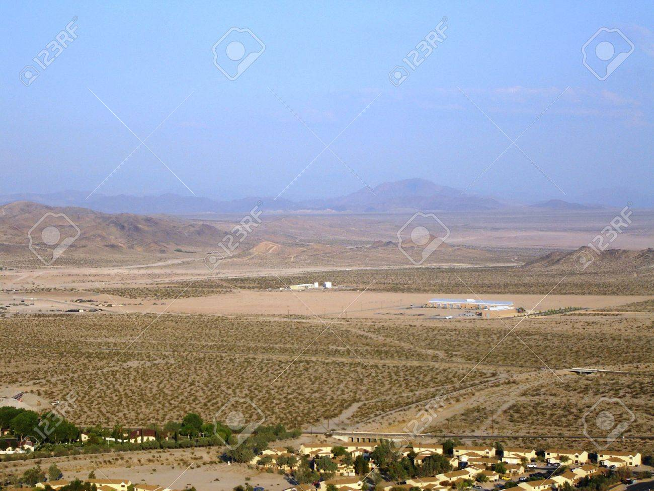 Fort Irwin Army Base - with mountain background - 8190623
