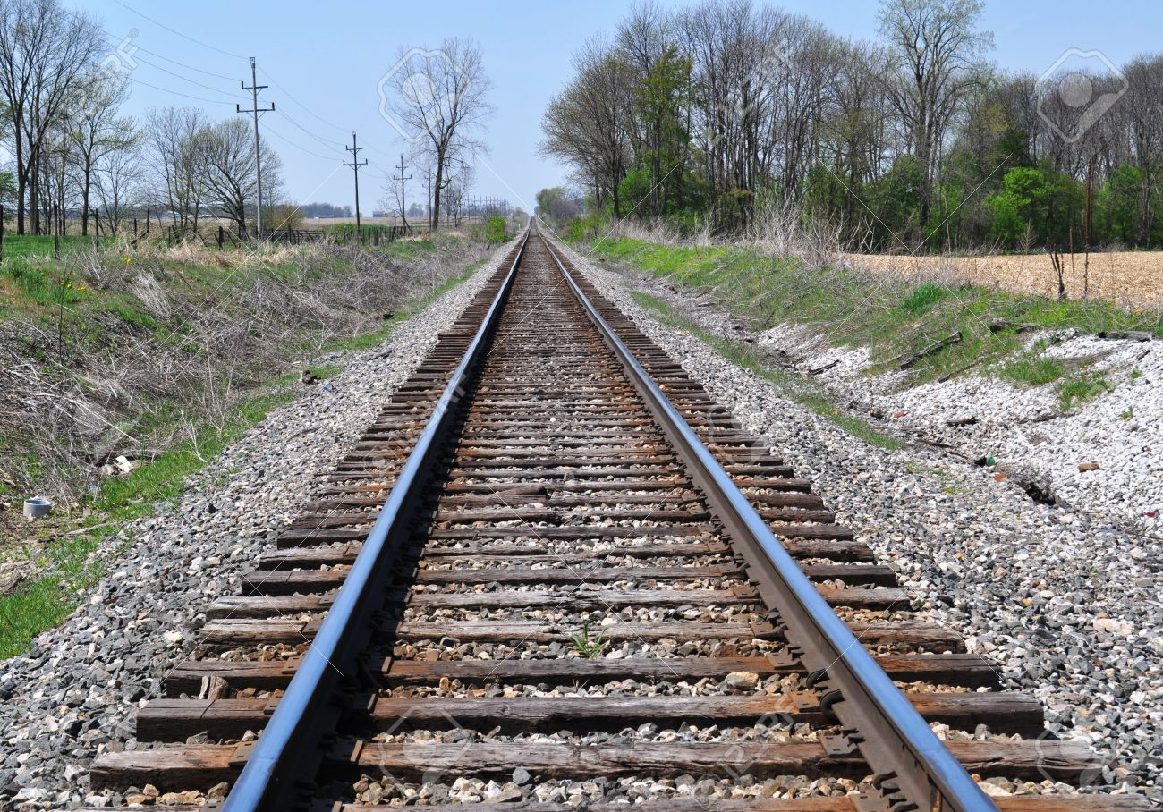 Train Tracks in the midwest - 8843579