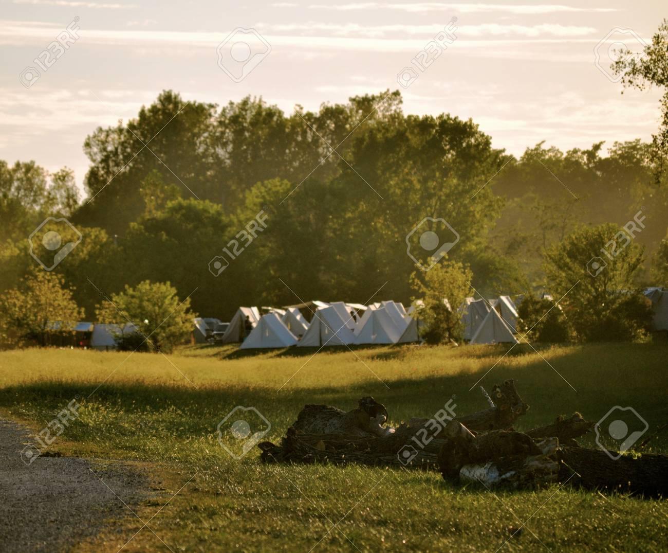 Civil War Re-Enactment Stock Photo - 17441746