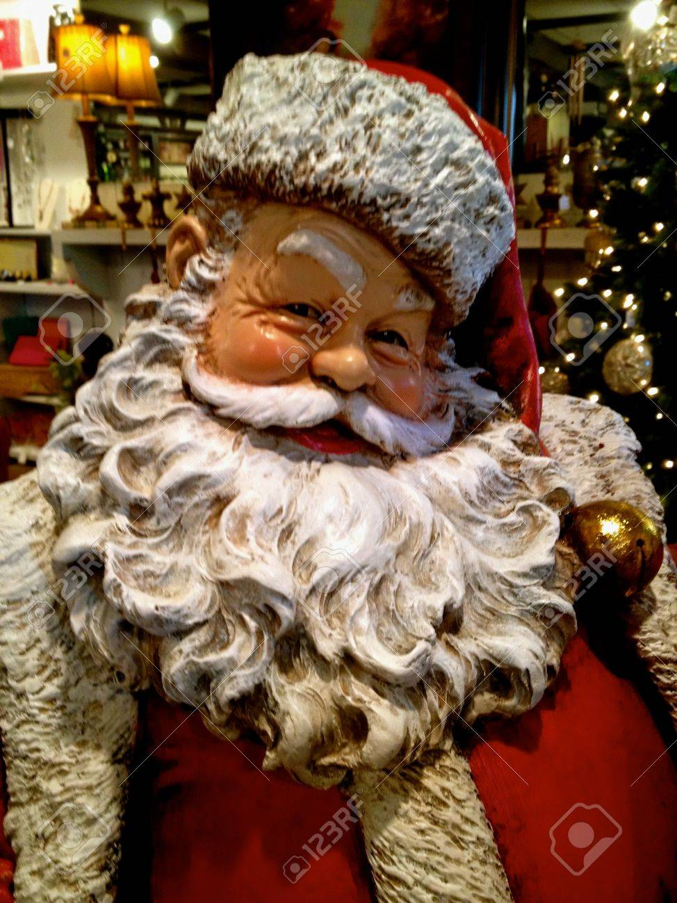 Statue Pere Noel Santa Claus Statue 2 Stock Photo, Picture And Royalty Free Image