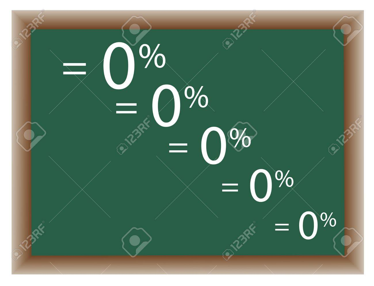 Green school board on which the percents are written down Stock Vector - 9317640