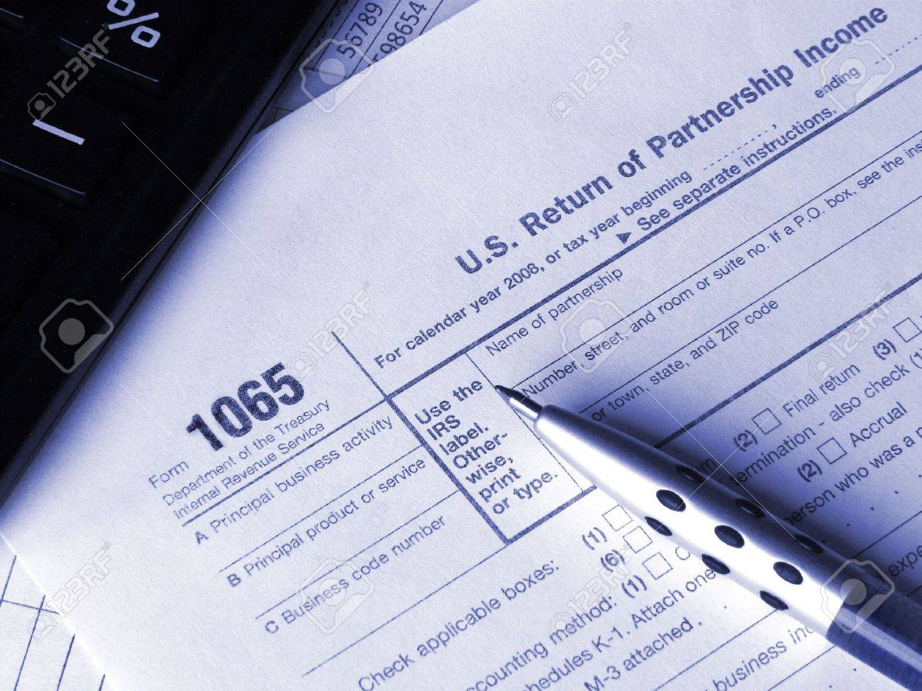 form 1065 calculator  Tax form 14, calculator and pen