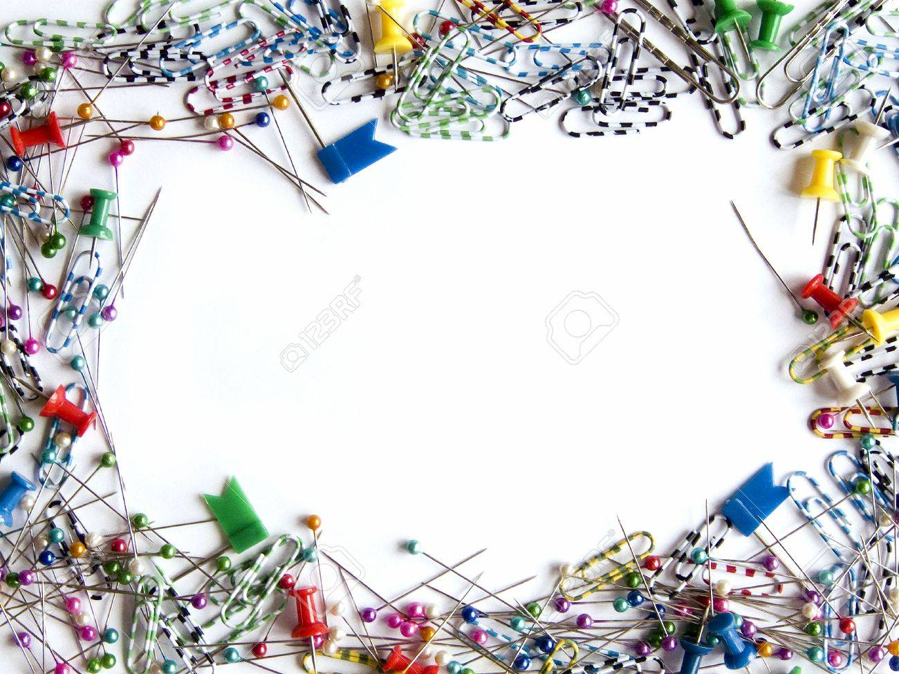 Frame Made Of Office Tools Stock Photo   5342456
