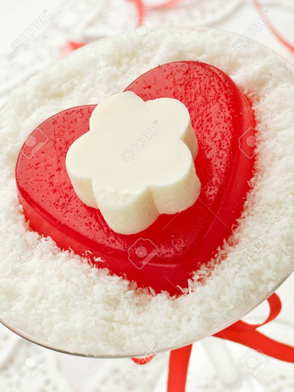 Heart-shaped dessert for Valentine's Day. Shallow dof. Stock Photo - 8668474