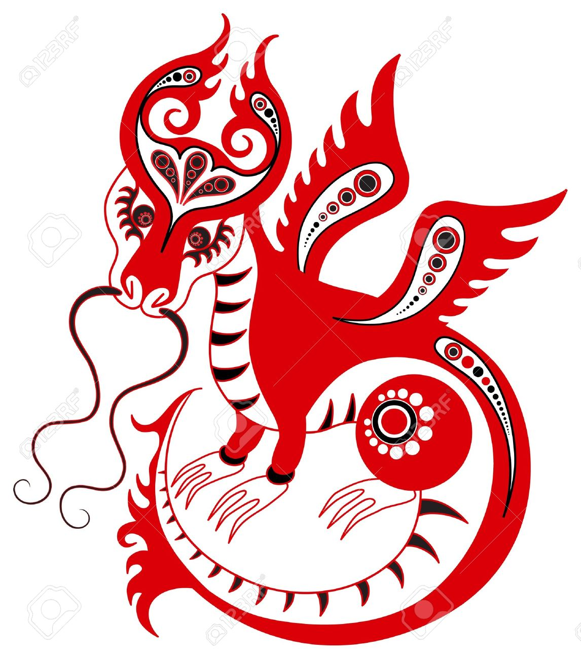 0fa63169d Chinese Horoscope. Year Of The Dragon Royalty Free Cliparts, Vectors ...
