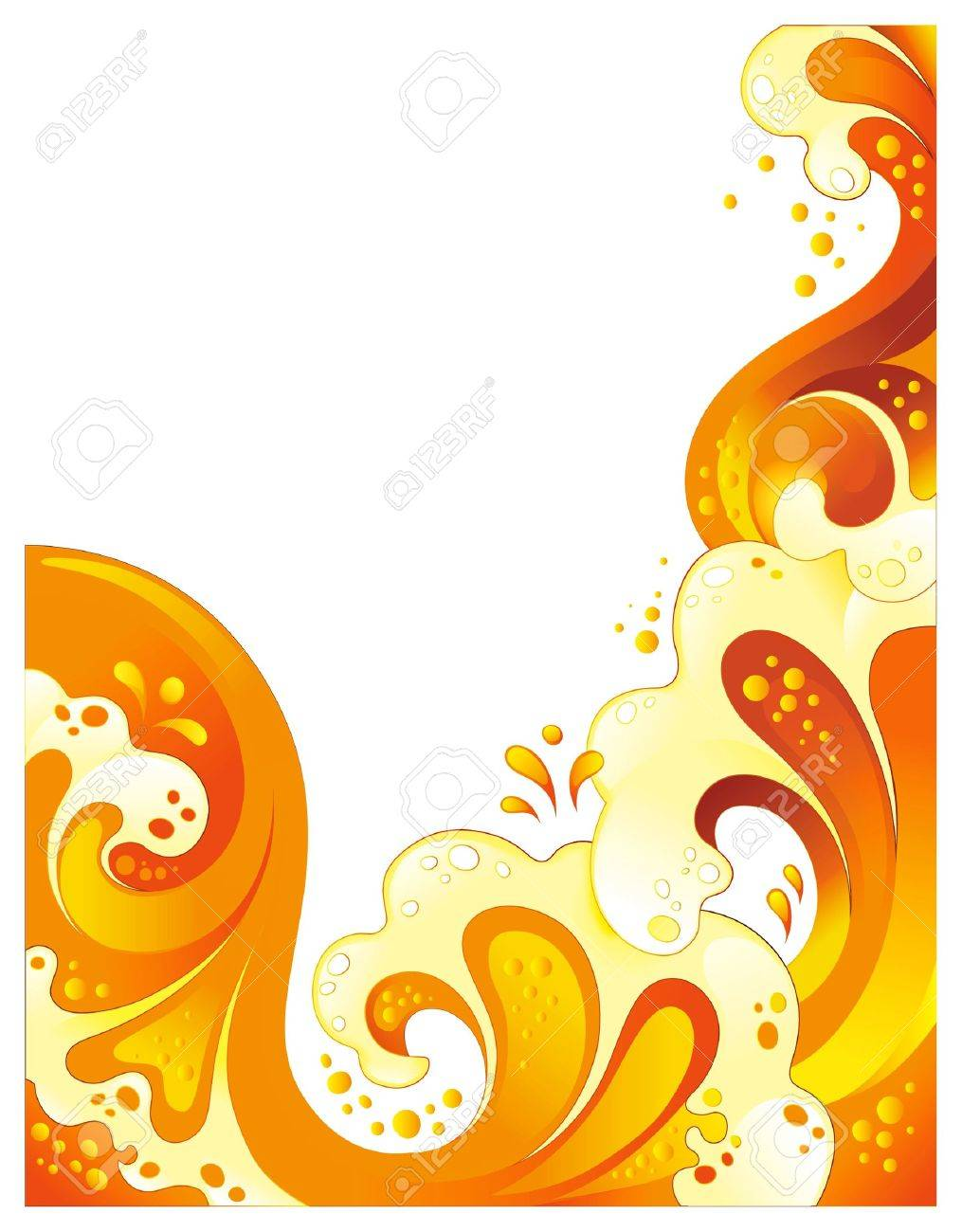Abstract drink background. No transparency, mesh or blends Stock Vector - 11968311