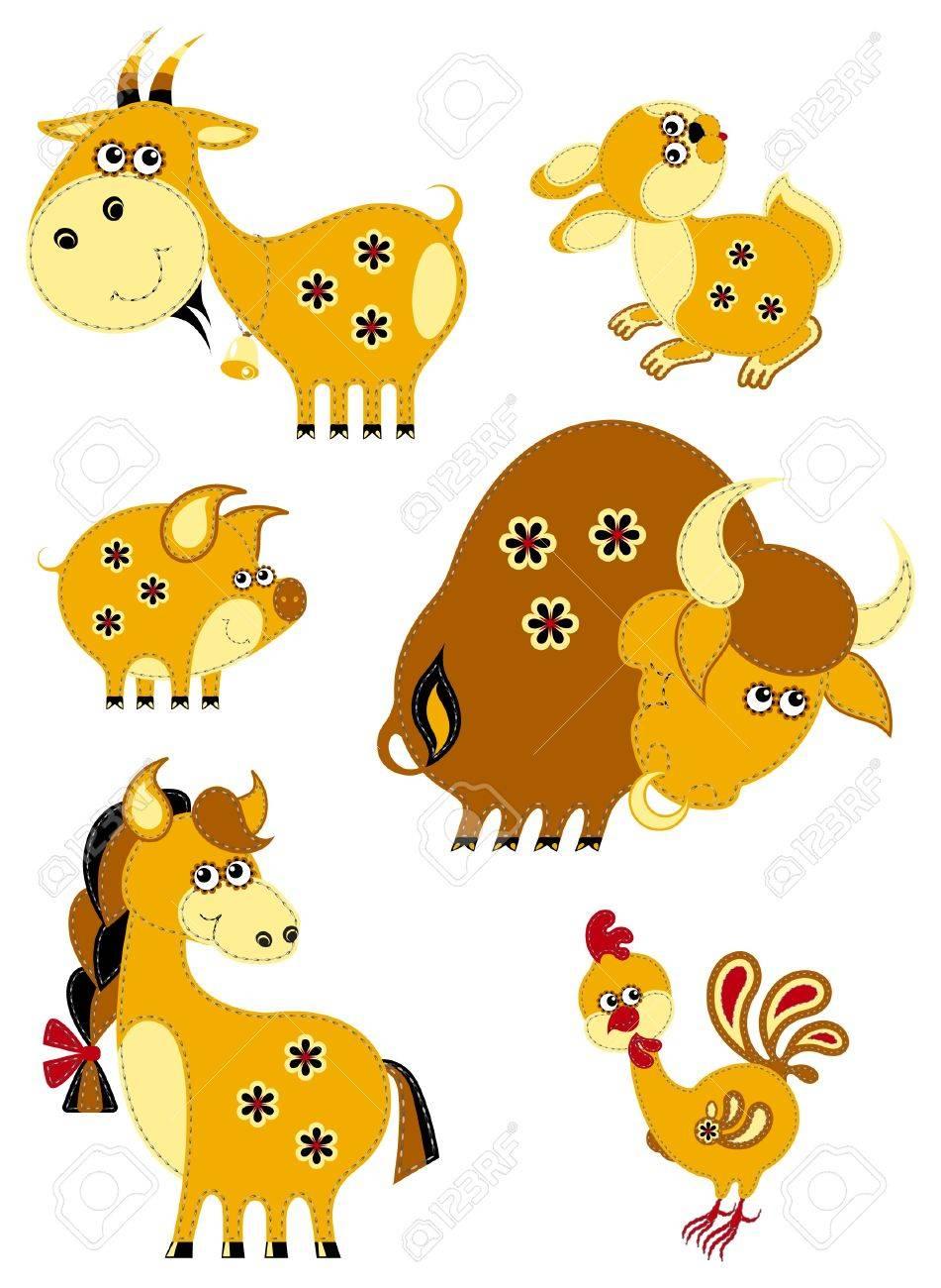 Farm animals set Stock Vector - 12301815