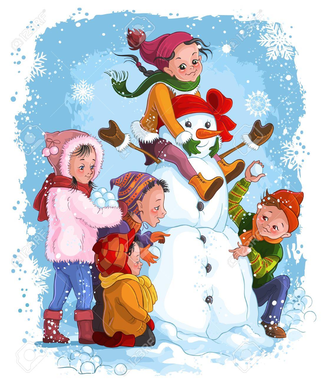 Картинки зима спорт дети