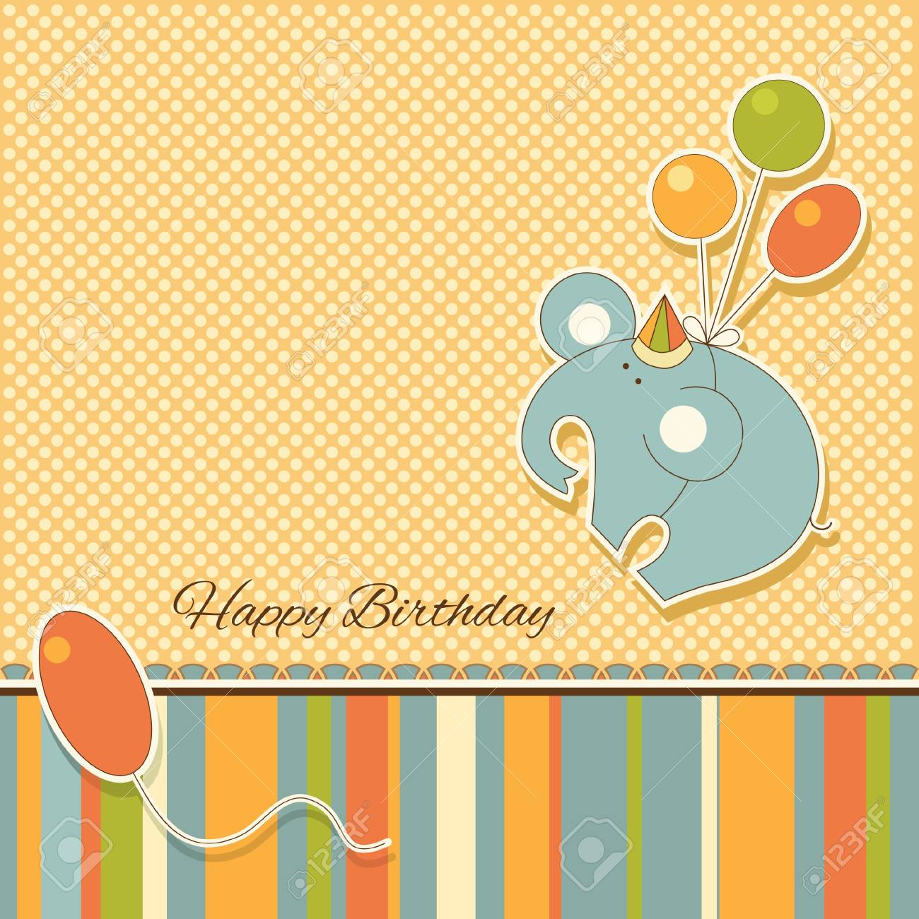 New announcement card with elephant Stock Vector - 17335144