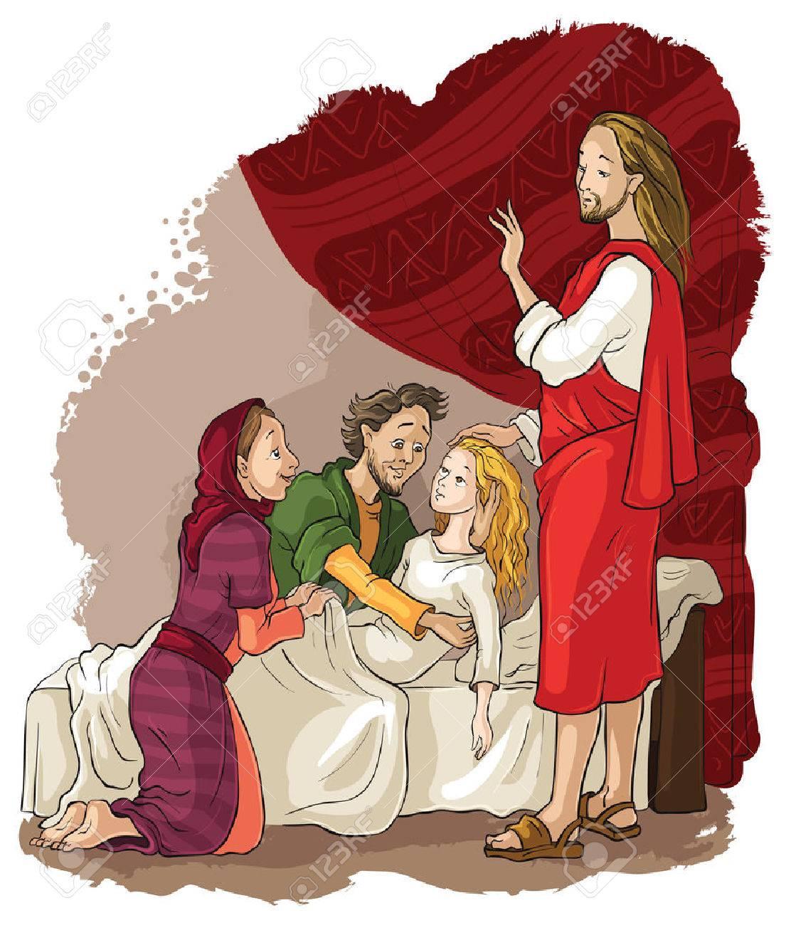 Miracles of Jesus. Raising of Jairus daughter - 45096177