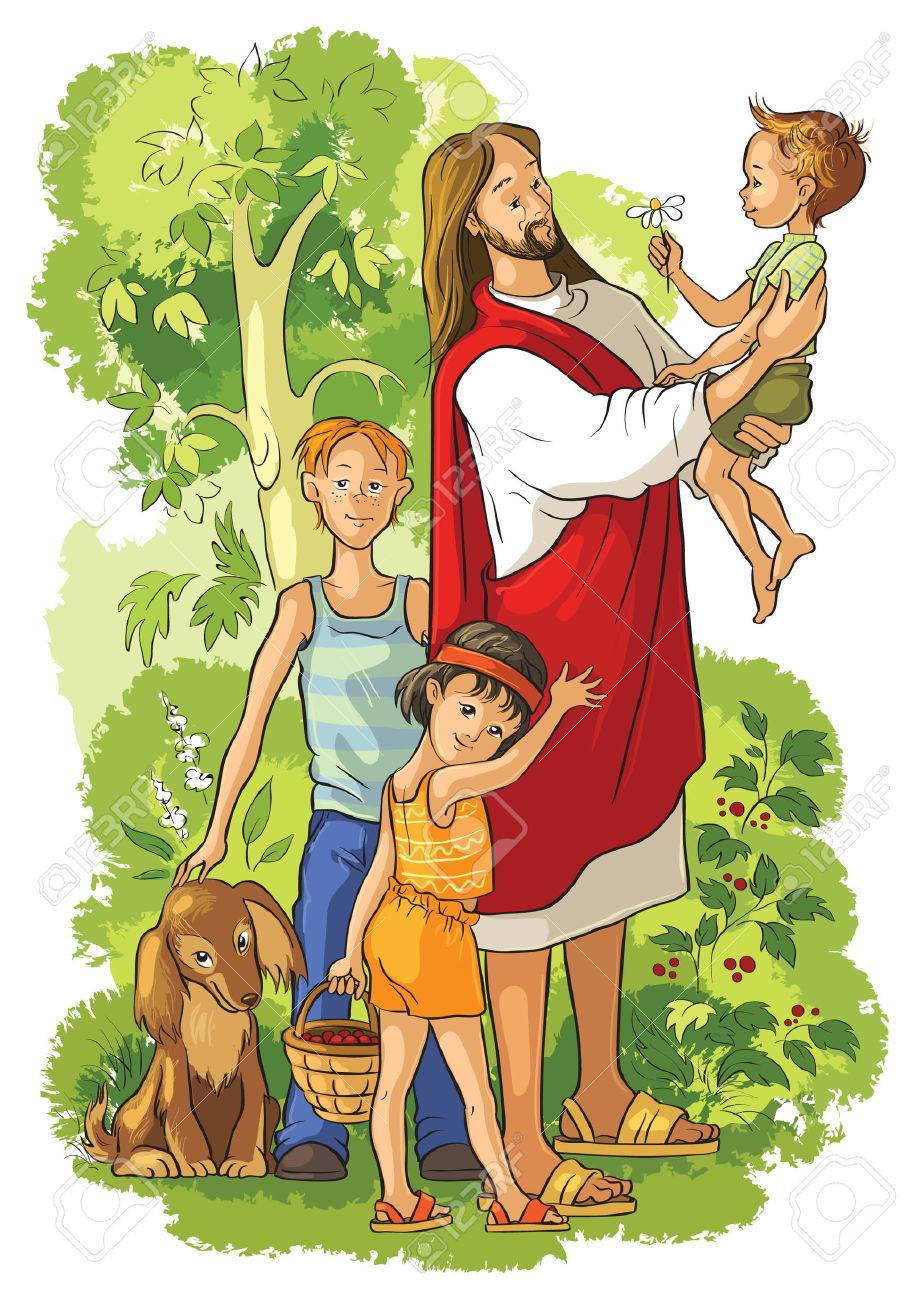 jesus with children - 48482707