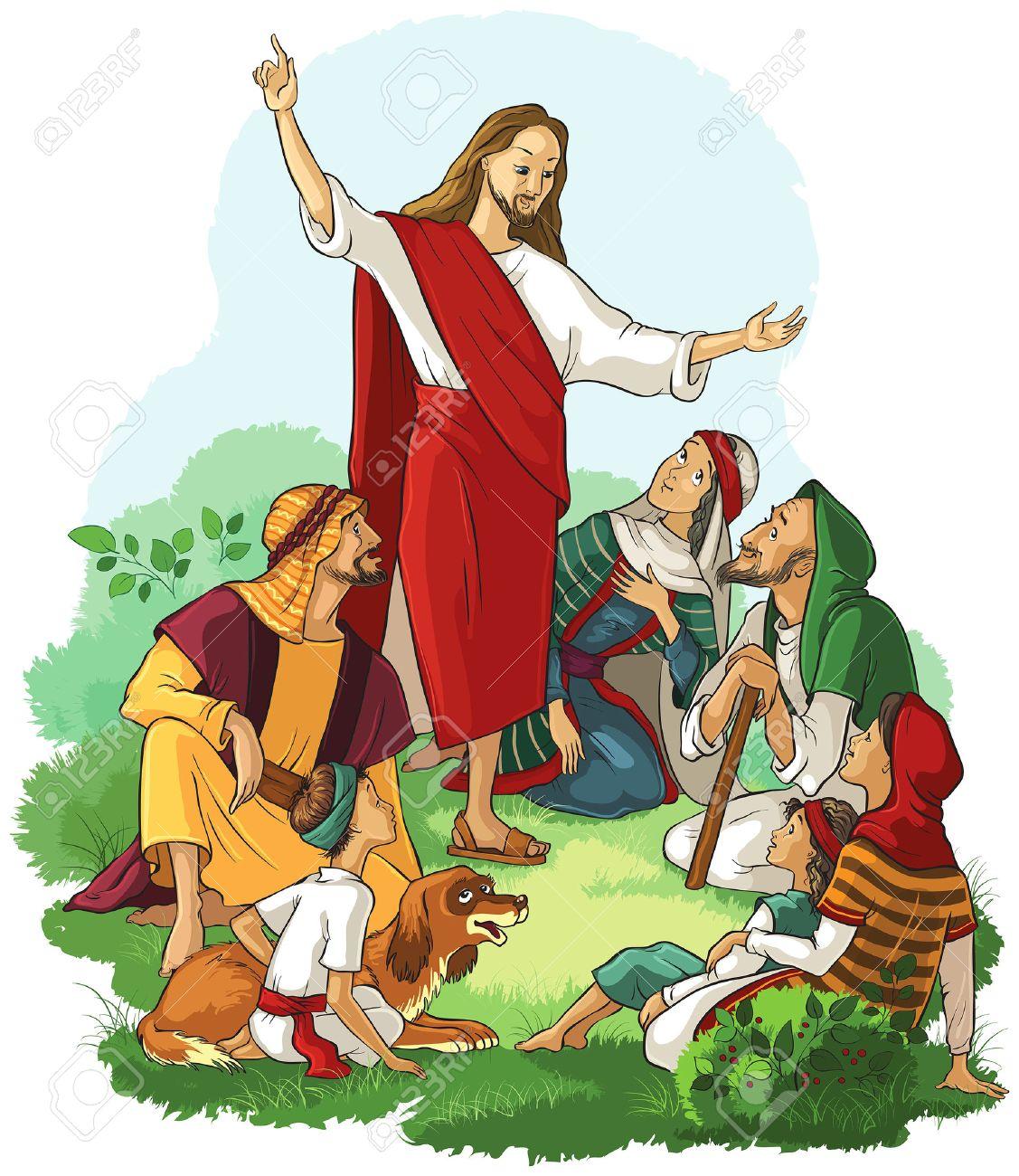 Jesus Preaches the Gospel - 62197321
