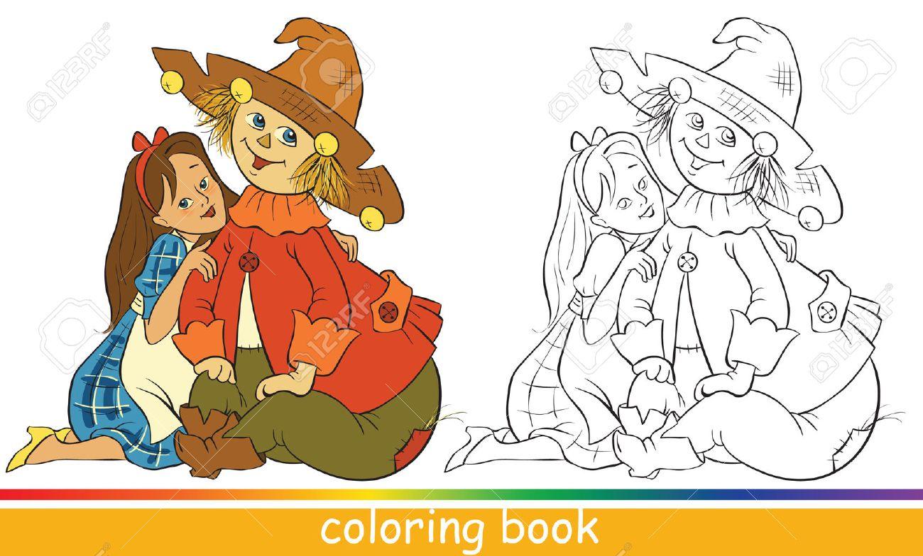 Dorothy Y Espantapájaros. Personajes De Cuentos Infantiles. Libro ...
