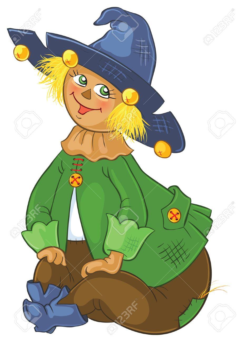 Scarecrow Wizard Of Oz Cartoon Illustration Royalty Free Cliparts