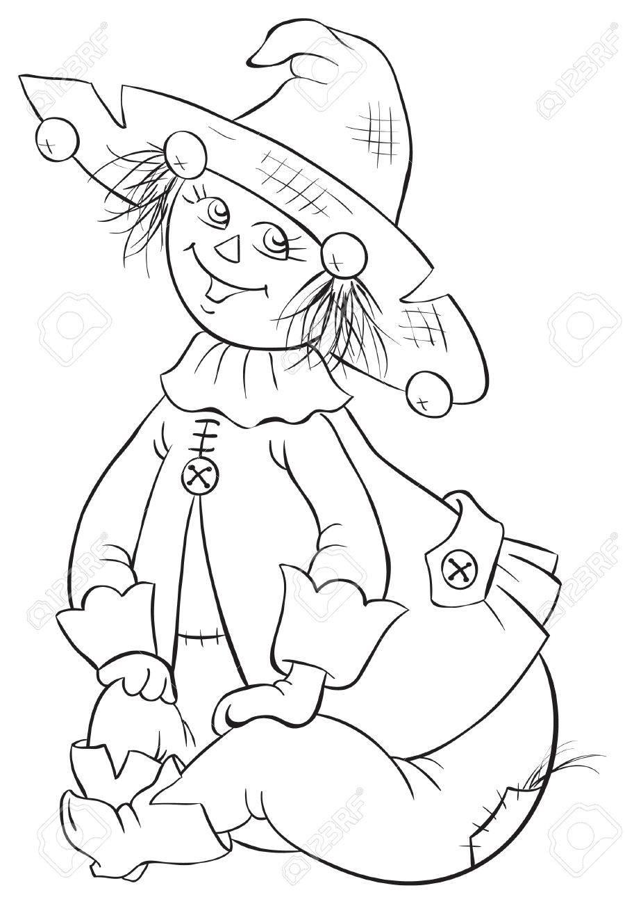 Espantapájaros. Mago De Oz Ilustración De Libros Para Colorear ...