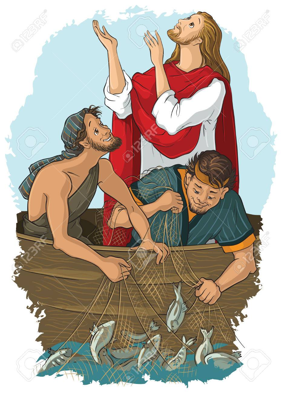 The Gospel story where Jesus give his blessing to a great catch - 79982927