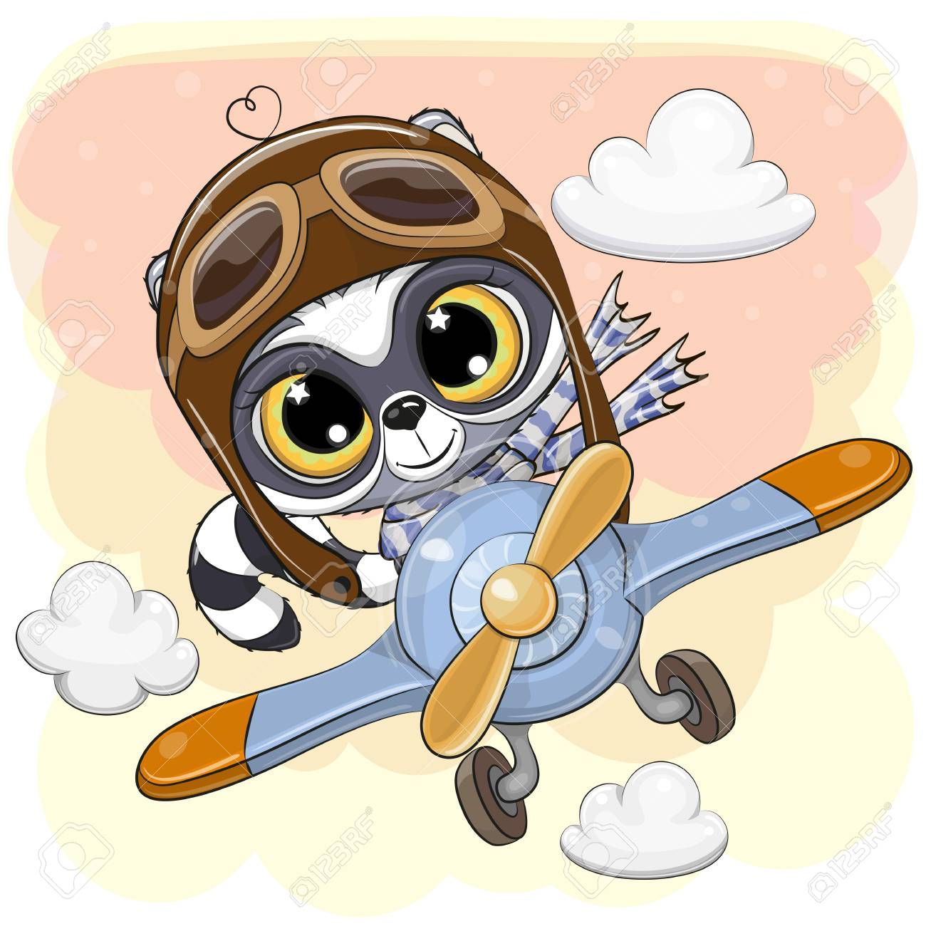 cute animated airplane clipart