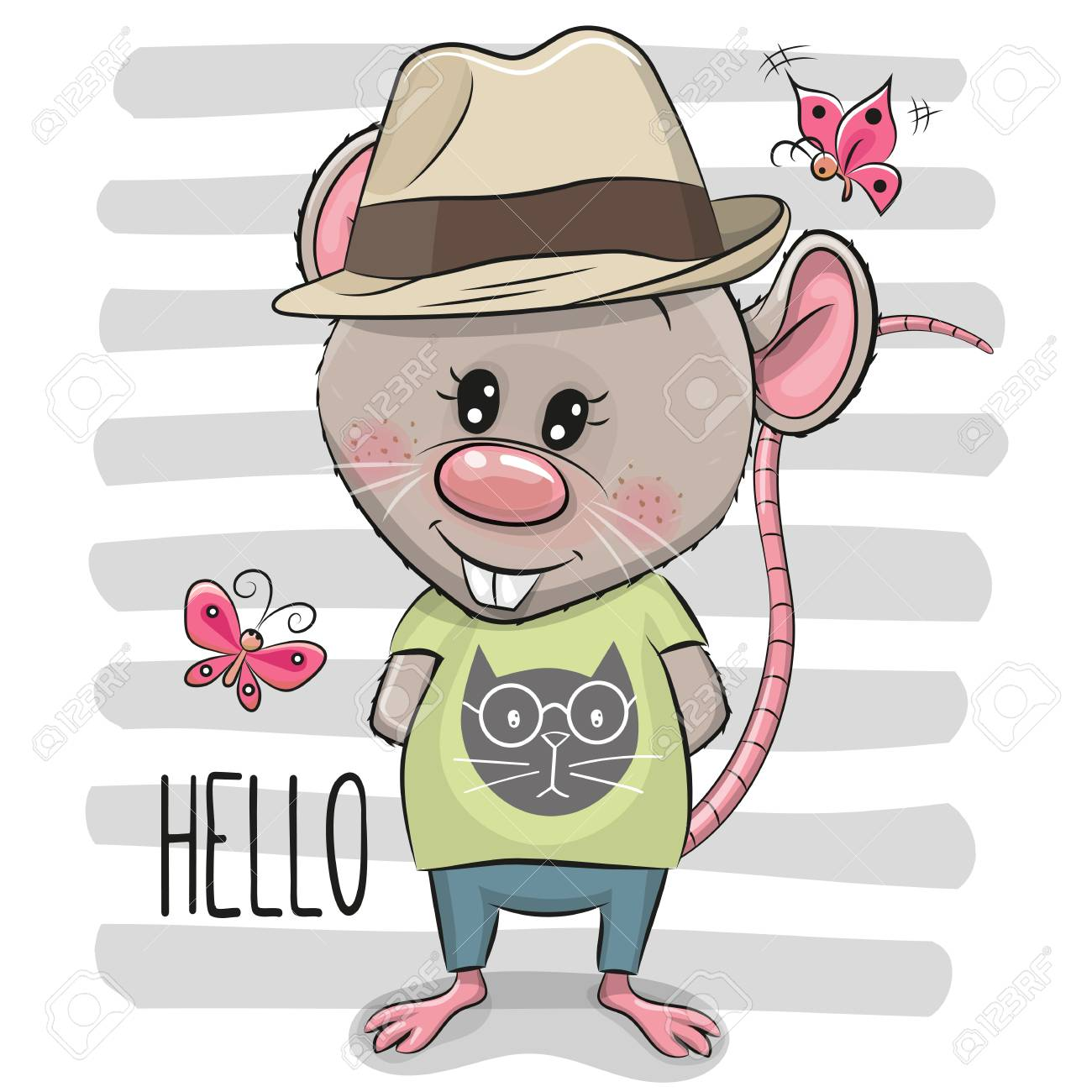 An image of a boy wearing a hat Clipart   k14067854   Fotosearch