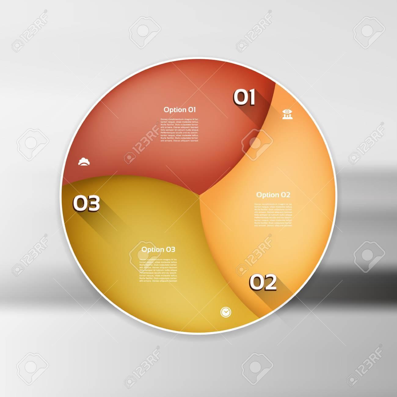 Vektor Infographic Kreis. Vorlage Für Grafik, Radfahren Diagramm ...