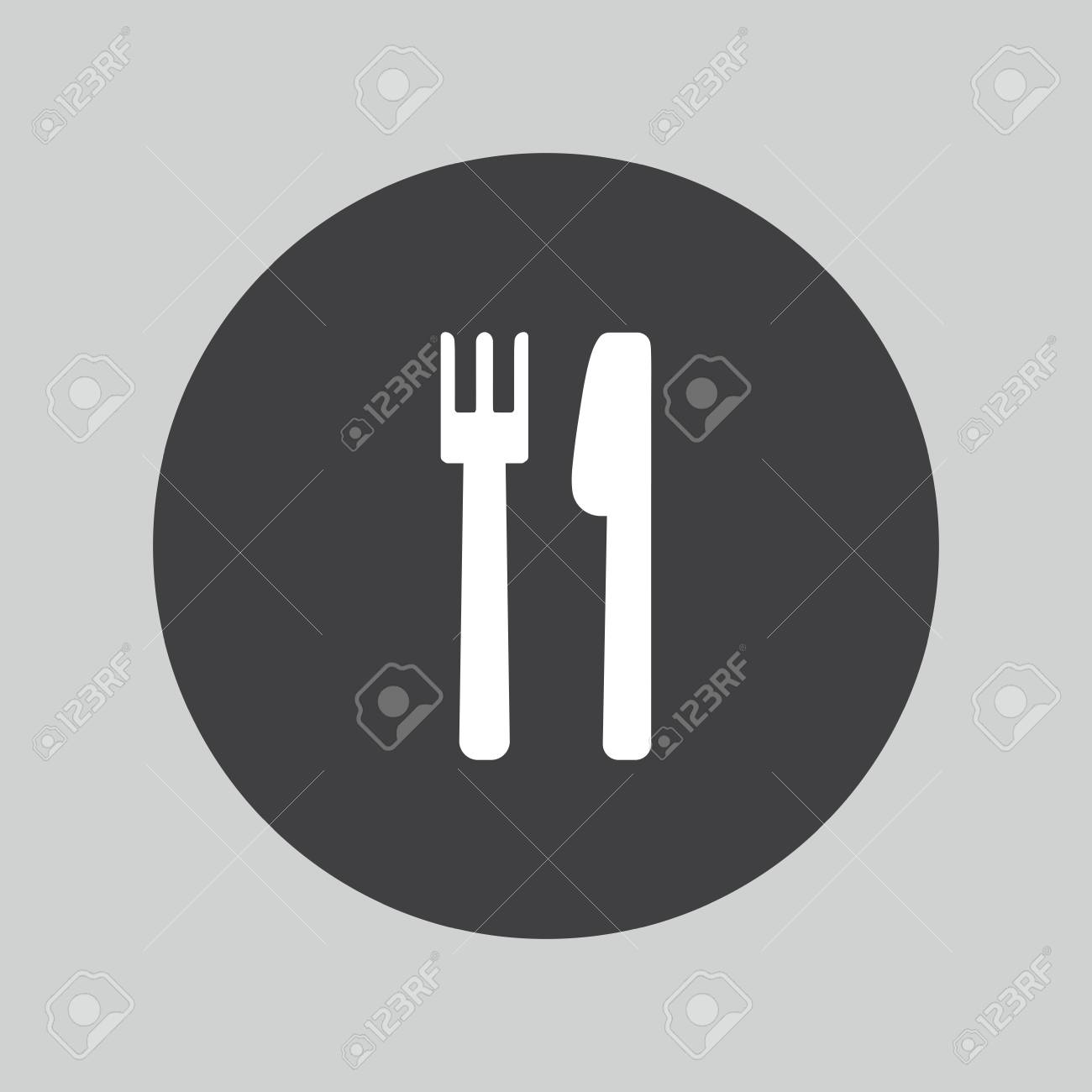 Eat Sign Icon Knife And Fork Symbol Royalty Free Cliparts Vectors