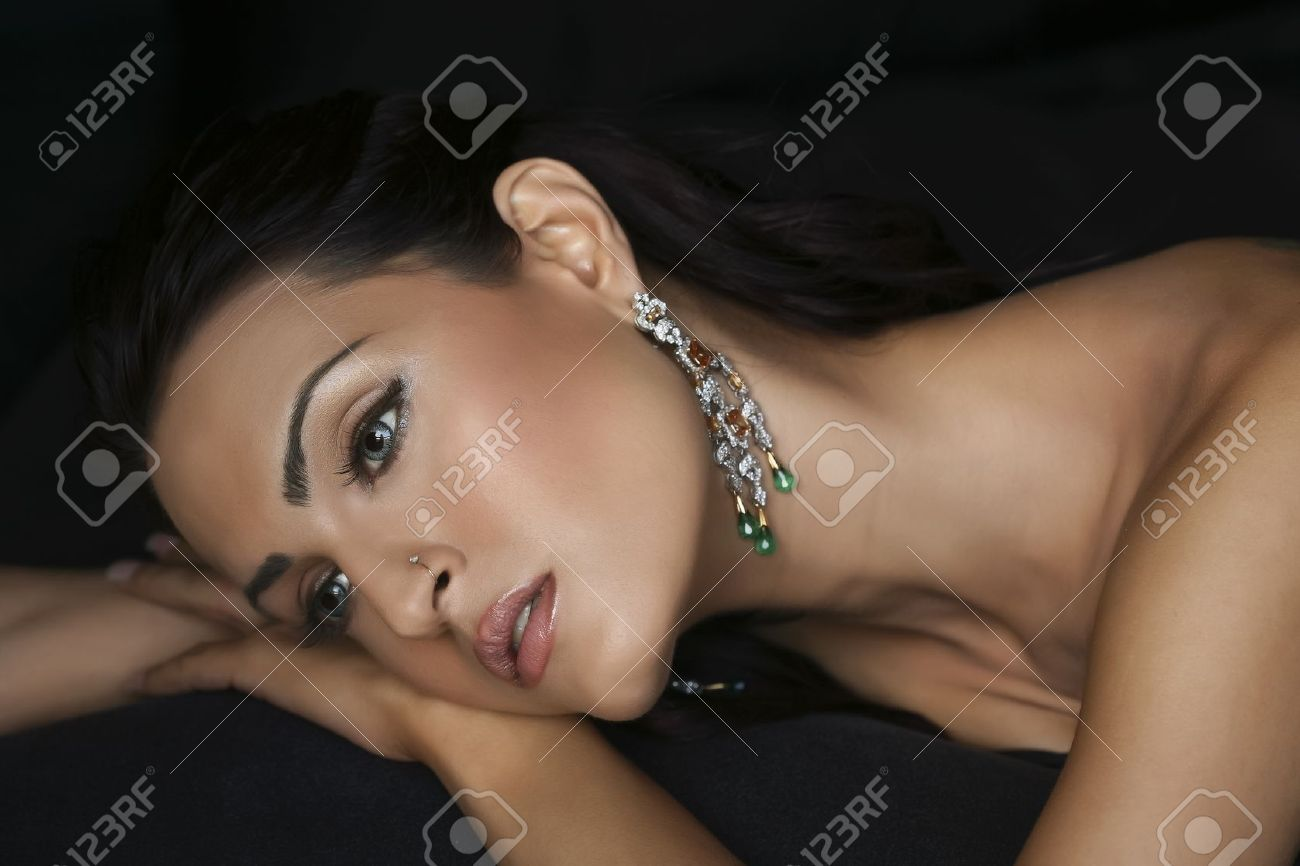 female fashion model wearing traditional Indian Jewellery Stock Photo - 14186848