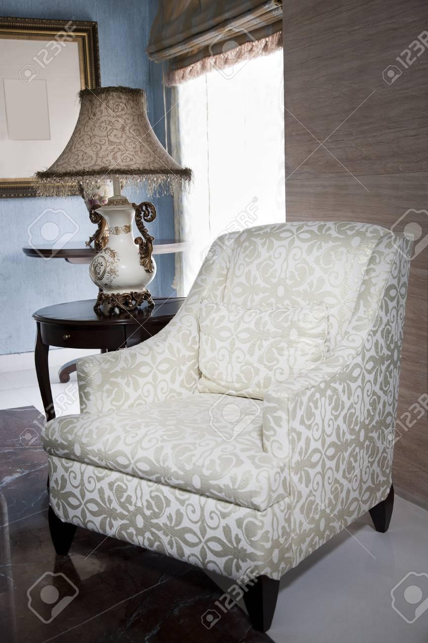 white single sofa seat Stock Photo - 14825373