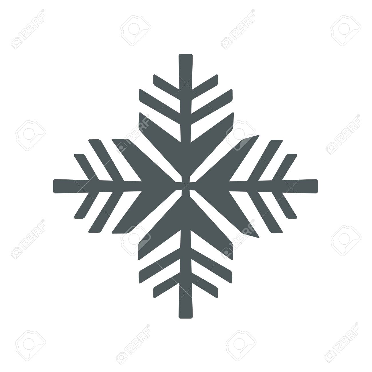 snowflake icon vector snowflake sign isolated snowflake symbol rh 123rf com vector snowflakes free download vector snowflake patterns