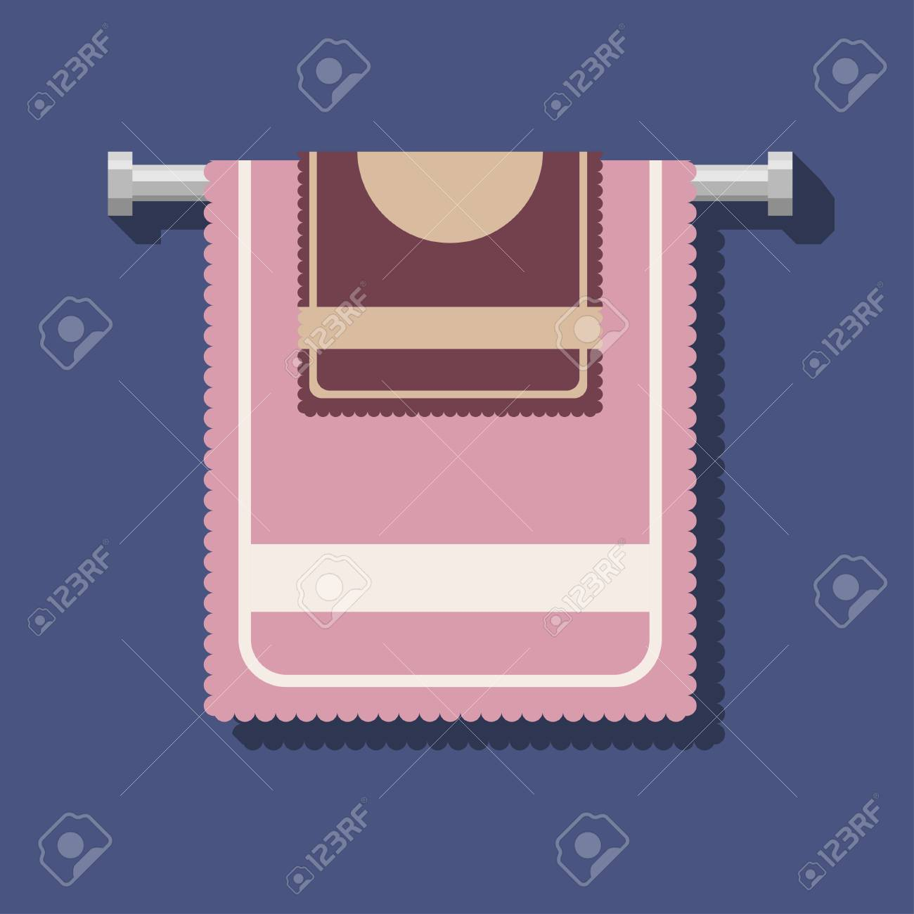 A Large Light Pink Towel And A Small Dark Pink Bath Towel On